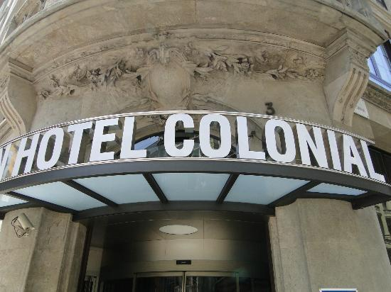 hotel exterior picture of hotel colonial barcelona. Black Bedroom Furniture Sets. Home Design Ideas