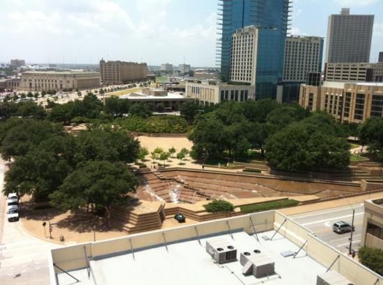 Sheraton Fort Worth Hotel and Spa: looking out our hotel window on the 11th floor