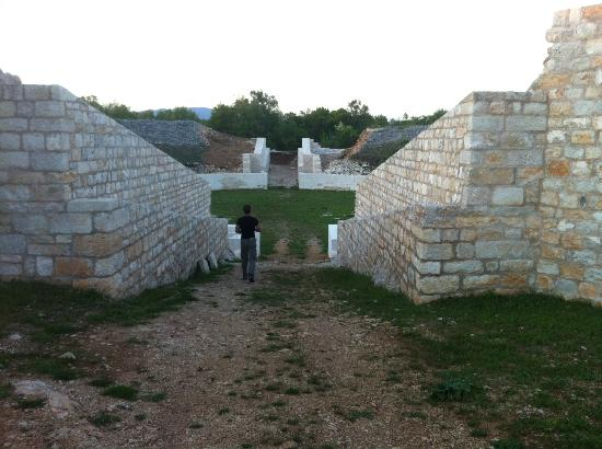 Dalmatia, Croatie : Amphitheatre - south entrance
