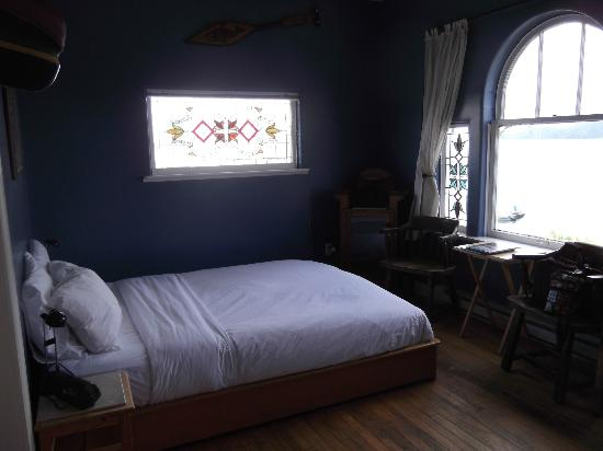 The Inn at Tough City: stained glass windows, ocean view window