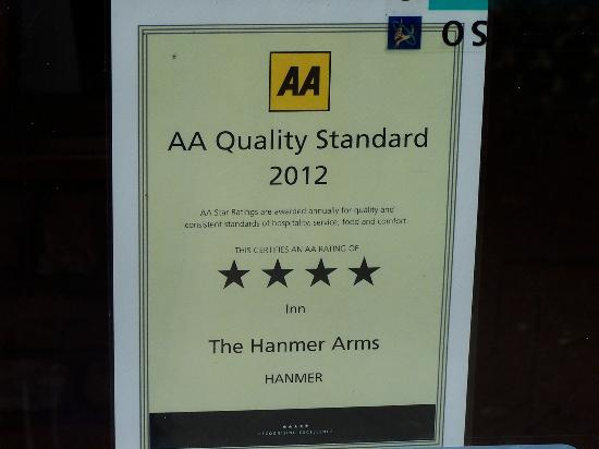 The Hanmer Arms: Why a 4 star AA need to take a good look July 2013