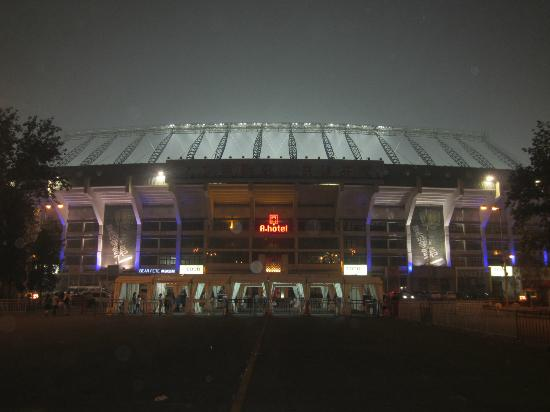 A-hotel Workers Stadium Beijing: A Hotel at night