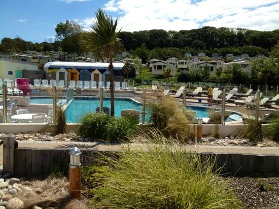 View from the golf course picture of littlesea holiday - Weymouth campsites with swimming pool ...