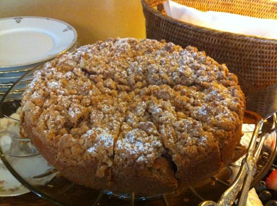 Livingston Inn: warm coffee cake