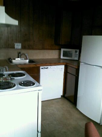 City Center Motel: kitchen in one of the suites