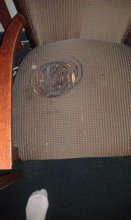 Plaza Hotel: Chair has been burned