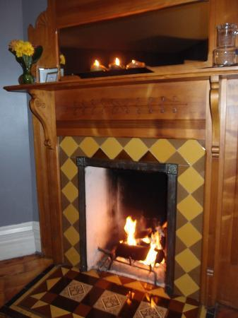 Hamilton House B&amp;B: Fireplace in Edgar Degas room