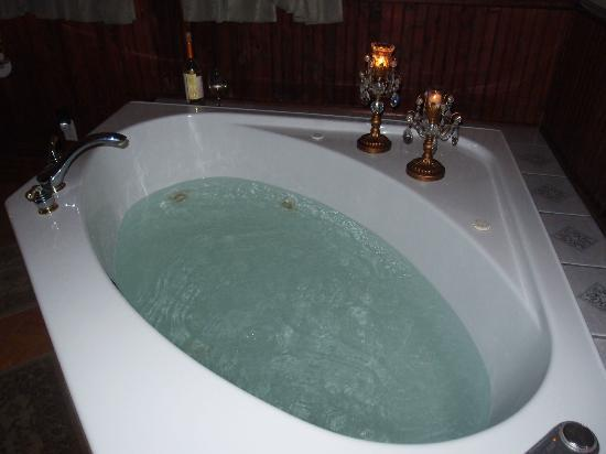 Hamilton House B&amp;B: Whirlpool in Edgar Degas room