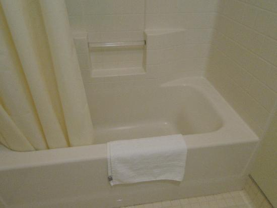 John Muir Lodge: Small shower/bath, plenty of hot water