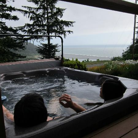 Historic Requa Inn: View from the hot tub