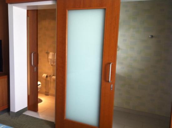 Springhill Suites Cincinnati Airport South: nice sliding doors to bathrooms