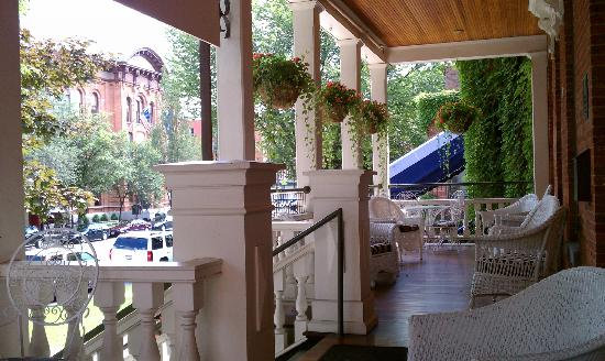 Saratoga Arms: Broadway from Front Porch