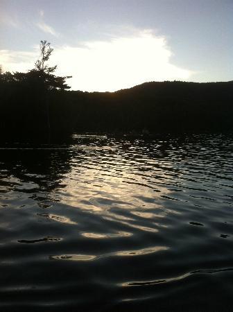 Wilson Pond Camps: Sunset