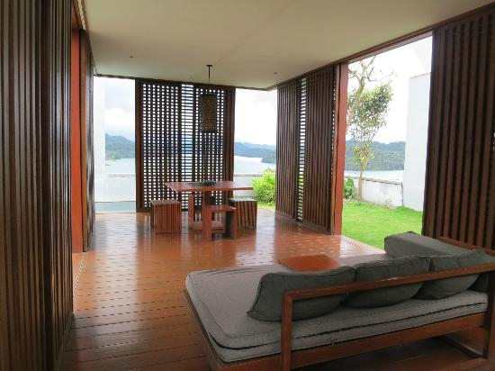The Lalu Sun Moon Lake: View from the cabana in the villa