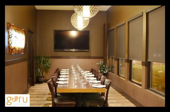 Private dining room picture of guru restaurant edmonton for Best private dining rooms edmonton