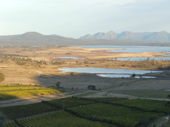 Meredith House and Mews: View over Moulting Lagoon to Freycinet Peninsula (20 mins)
