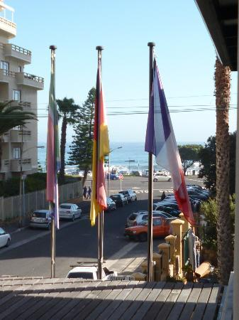 Cascades on the Promenade: View of the Seapoint promenade from our balcony