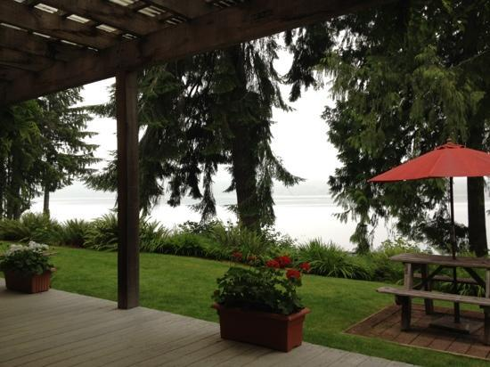 Lake Quinault Resort: My view as I&#39;m writing this review