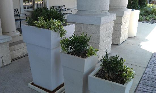 Holiday Inn Chicago-Tinley Park-Convention Center: Outside planters in front of the hotel