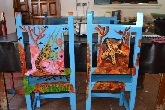 Beautifully Painted Chairs Picture Of La Perlita