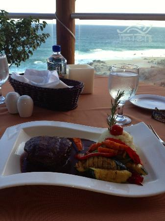 Club Regina Los Cabos: Beef tenderloin meal at Inizio