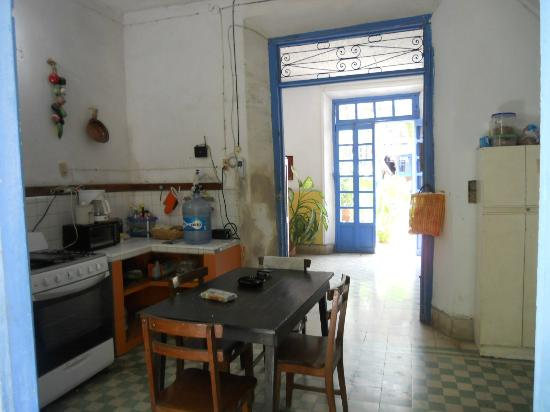 Las Arecas: Main Kitchen/Breakfast area