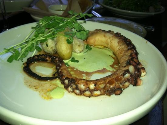 West Tisbury, MA: octopus appetizer
