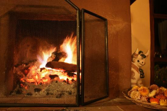 The Green House Peru: the fireplace was needed and utilized to it&#39;s fullest