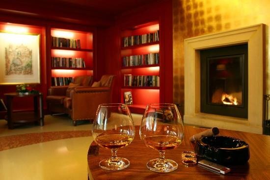 Aria Hotel: Fireplace Library