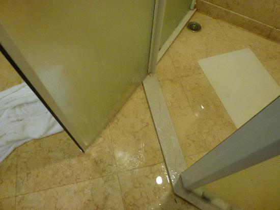 Luofushan Baotain International Resort &amp; Hotel: Shower room water leaks when u can&#39;t use the bathtop.