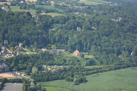 La Ferme Saint Simeon: vue arienne