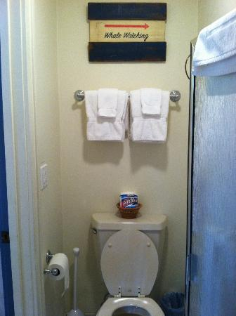 Country Cottage of Langley: Nautical theme even in the bathroom!