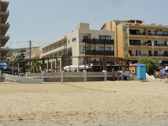 Steris Apartments: View from the beach