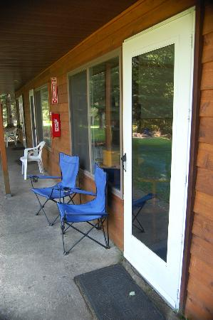 Gates Au Sable Lodge: Back patio door area.