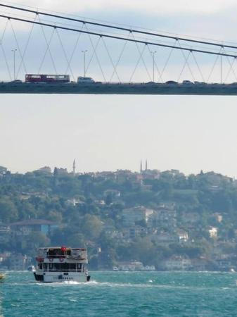 "Ciragan Palace Kempinski Istanbul: The nearby ""Bosphorus Bridge"""