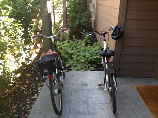 Hotel Yountville: complimentary bikes
