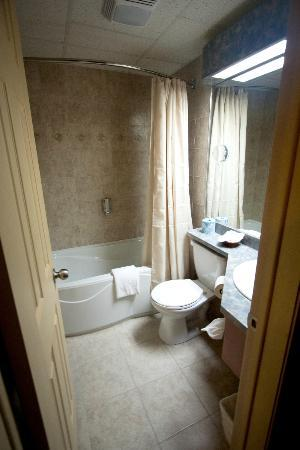 Motel Plante: Deluxe room bathroom