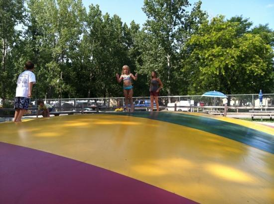 Sandusky KOA campground: jumping pillow