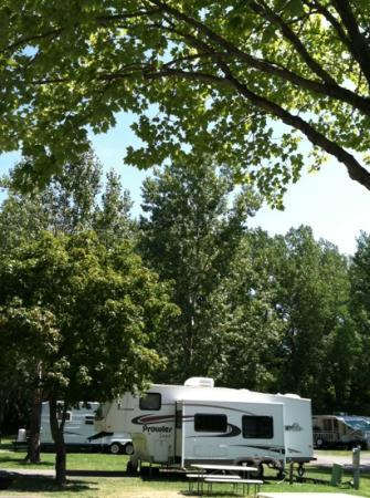 Sandusky KOA campground: our site