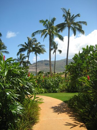 Kauai Lagoons Resort: walkway to pool