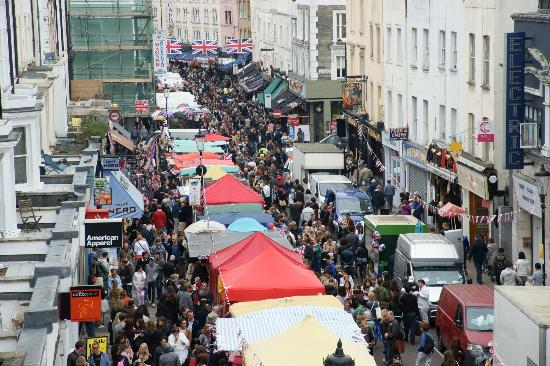 Portobello Road market on Saturday 2 June 2012