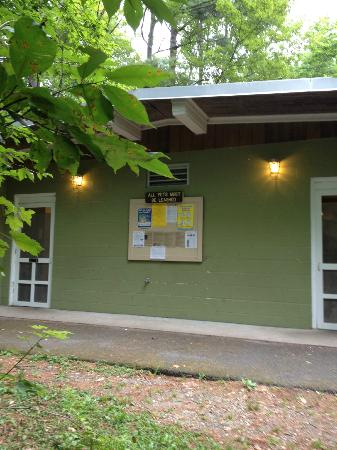 Restroom facility picture of dar state forest goshen for Goshen motor inn goshen in