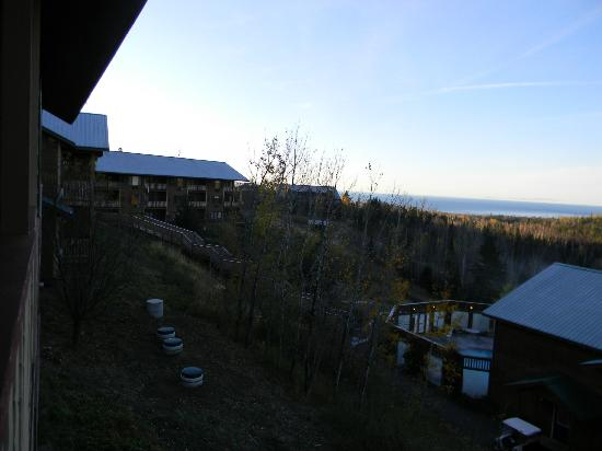 Eagle Ridge at Lutsen Mountain: Vies from the deck off our condo at Eagles Ridge.