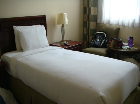 Addis Regency Hotel: A bed in our room (twin)