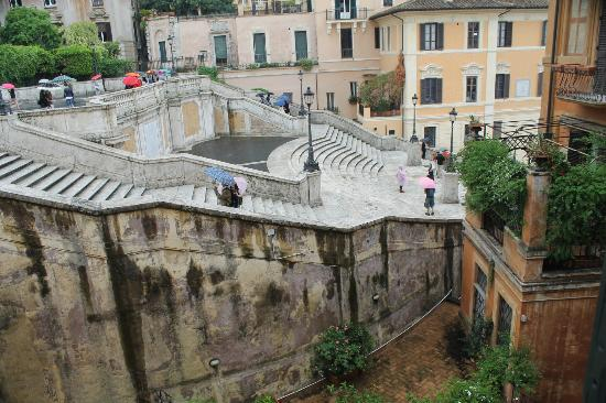 Internazionale Domus: The Spanish Steps -View from our room