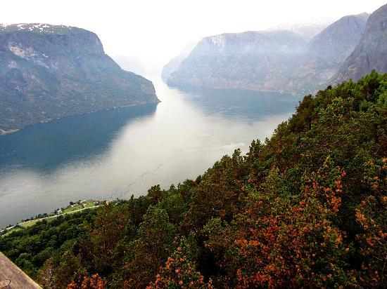 Aurland Municipality, Norway: The view from Stegastein.