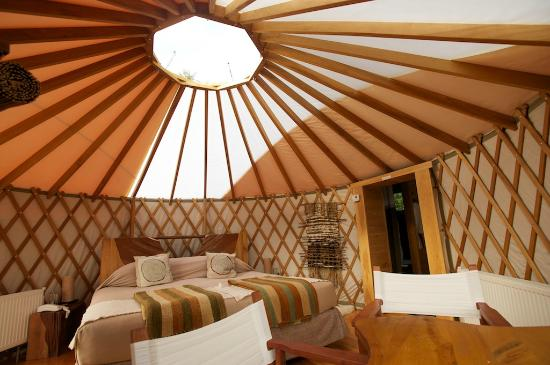 Patagonia Camp: inside the yurt
