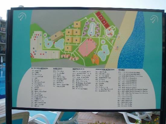 Paloma Oceana Resort : Resort Map