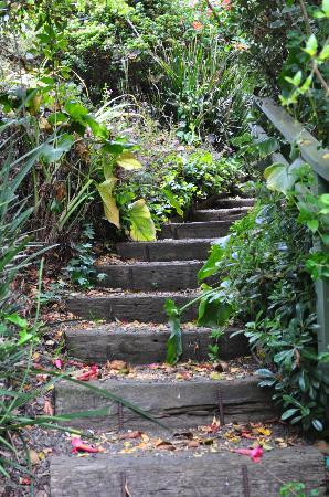 Her Castle Homestay Bed and Breakfast Inn: stairway right outside the room