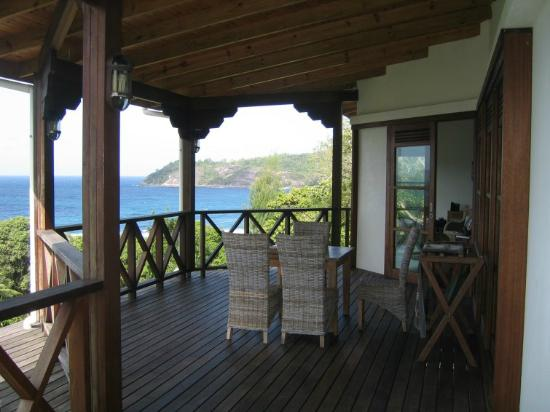 Spacious terrasse with a stunning view for Villa de jardin seychelles